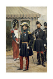 Full Length Portrait of Napoleon III at the Chalons Camp Giclee Print by Edouard Detaille