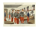 My 28 Days, 1896, Soldiers under the Inspection of the General Giclee Print by Albert Guillaume