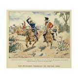 Sergeant Guinde 10th Hussars Kills Prince Louis of Prussia, at Battle of Saalfeld Giclee Print by Louis Bombled