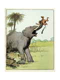 The Elephant and the Hunter. 'Chosen Buffoon', Giclee Print by Benjamin Rabier