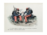 Mes Campagnes, 1896, the Problem of Shoes in the Infantry Giclee Print by Albert Guillaume