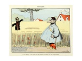 Spring: it's Always a Man That it Takes to Make a Scarecrow, 'Menagerie' Giclee Print by Benjamin Rabier