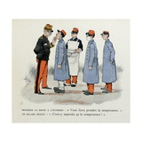 Mes Campagnes, 1896, Major Doctor and His Male Nurse with Sick Soldiers Giclee Print by Albert Guillaume