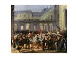 Duke of Orleans Leaving the Palais Royal for Hotel De Ville (July 31St, 1830) 1932 Giclee Print by Emile Jean Horace Vernet