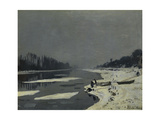 Ice Flows on the Seine at Bougival, Ca. 1870 Giclee Print by Claude Monet