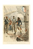 Charles Durand Linois Fighting the English on May 7, 1794, 'Au Drapeau' Giclee Print by Julien Le Blant