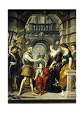 Henry IV of France Appointing Queen Marie De Medici His Regent, 1610 Giclee Print by Peter Paul Rubens