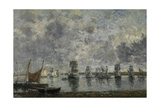 Sailing Ships, Camaret Giclee Print by Eugene Louis Boudin