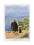 The Shepherd and the Sea. La Fontaine's Fables Giclee Print by Firmin Bouisset