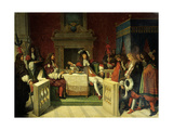 Moliere Dining with Louis XIV Giclee Print by Jean Auguste Dominique Ingres