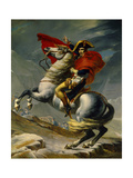 Napoleon Bonaparte Crossing the Grand Saint-Bernard Pass, May 20,1800 Gicléetryck av Jacques-Louis David