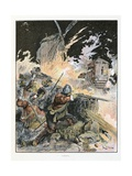 The Assault, 'Le Capitaine Bellormeau' Giclee Print by Albert Robida