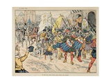 Entrance of Henry IV in Paris, on March 22Nd, 1594 Giclee Print by Jacques de Breville