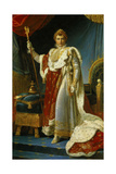 Portrait of Napoleon I in Coronation Robe. 1805 Giclee Print by Francois Gerard