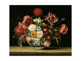 Bunch of Flowers in a Chinese Cup. 1640 Giclee Print by Jacques Linard