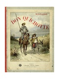 Book Cover of 'Don Quichotte' (Don Quixote) Giclee Print by Jules David