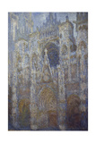 Rouen Cathedral, Blue Harmony, Morning Sunlight, 1893 Giclee Print by Claude Monet