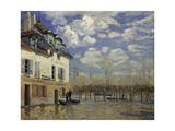 Boat in the Flood at Port-Marly, 1876 Giclee Print by Alfred Sisley