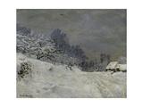 Near Honfleur-Snow, 1867 Giclee Print by Claude Monet