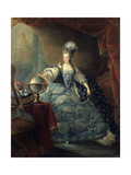 Marie Antoinette, Queen of France with Globe, 1775 Giclee Print by Jean Baptiste Andre Gautier d'Agoty