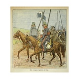The Regular Don Cossacks, Illustration from 'Le Memorial De Sainte-Helene' Giclee Print by Louis Bombled