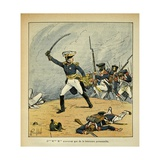 Napoleonic Wars, French General Charging before His Troops Giclee Print by Louis Bombled
