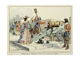 Mademoiselle De Montpensier by Firing the Cannon of the Bastille in 1652 Giclee Print by Paul Dufresne