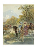 Royal Hunt of the Court of French King Francis I Giclee Print by Albert Robida