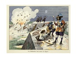 Dutch Blow Up the Levees in 1672 to Slow the French Invasion in Dutch War Giclee Print by Paul Dufresne