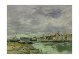 Trouville Harbor Giclee Print by Eugene Louis Boudin