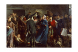 Franco-Prussian War. Line at Butcher's Shop. 1871 Giclee Print by Clement Auguste Andrieux