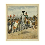 Napoleonic Wars, Emperor Napoleon I Reviewing His Troops Giclee Print by Louis Bombled