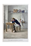 Coignet Studying for Officer Exam, 'Captain Coignet's Books' Giclee Print by Julien Le Blant