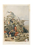 Crimean War; the Death of Colonel Filhol De Camas, 1854, 'Au Drapeau' Giclee Print by Julien Le Blant