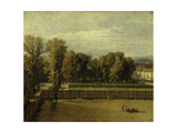 View of the Luxembourg Gardens in Paris Giclee Print by Jacques Louis David