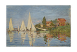 Regattas at Argenteuil, 1872 Giclee Print by Claude Monet