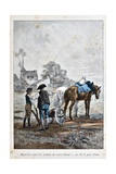 Apprenticeship at the Farm, 'Captain Coignet's Books' Giclee Print by Julien Le Blant