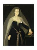 Portrait of Agnes Sorel, Ca.1450 Giclee Print by Francois Clouet