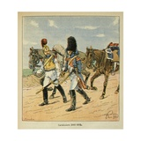 Carabiniers (Soldier Armed with a Carbine) During the Napoleon Wars Giclee Print by Louis Bombled