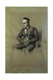 Charles Auguste Sainte Beuve, French Writer, Ca. 1850 Giclee Print by Francois Joseph Heim