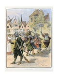 The Bourgeois Guard, 'Le Capitaine Bellormeau' Giclee Print by Albert Robida