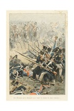 Scottish Charging the Sacred Hedge Battle of Waterloo, 'Au Drapeau' Giclee Print by Julien Le Blant