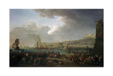 French Army Commanded by General Championnet Entering Naples, Jan. 21, 1799 Giclee Print by Jacques Taurel