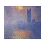 London, Houses of Parliament-Sun Shining Through the Fog, 1904 Giclee Print by Claude Monet