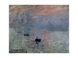 Impression, Sunrise, 1872 Giclee Print by Claude Monet