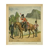 On St. Helena, a Horse Order Comes to Longwood to Ask for the Atlas of Le Sage Giclee Print by Louis Bombled