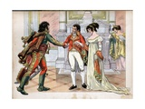 First Consul Gives the Hand of His Sister Caroline, to Joachim Murat Giclee Print by Jacques de Breville