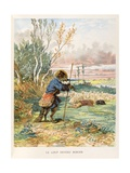 The Wolf Who Played Shepherd. 'Selected Fontaine's Fables', 1892 Giclee Print by Jules David