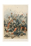 Courage of African Hunters at Battle of Mazagran in 1840, 'Au Drapeau' Giclee Print by Julien Le Blant