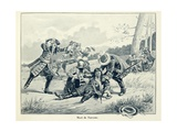 Death of Marshall Turenne During the Battle of Salzbach in 1675 Giclee Print by Paul Dufresne